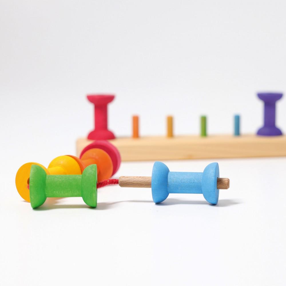 Turnulet jucaus pentru bebelusi, albastru-verde
