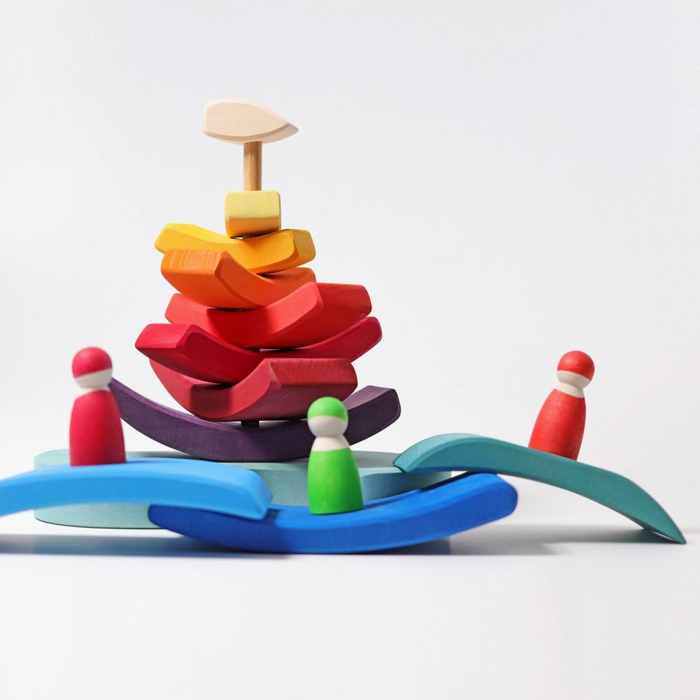 Pestele Curcubeu - puzzle senzorial si creativ