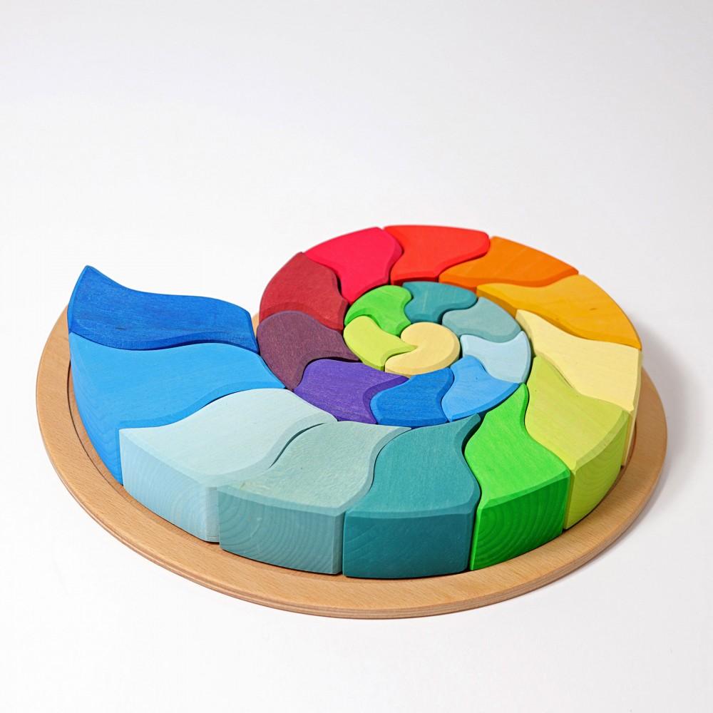 Roata curcubeu- puzzle magnetic