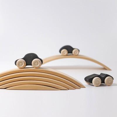Poduri pentru masinute, lemn natur