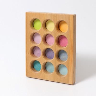 Placa pentru jocuri de sortare, model pastel