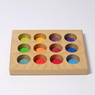 Placa pentru jocuri de sortare, model curcubeu
