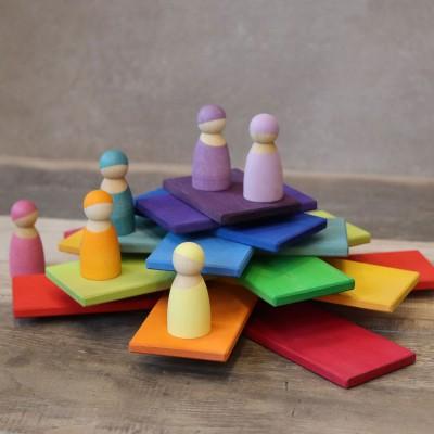 Set creativ cu placi - model curcubeu