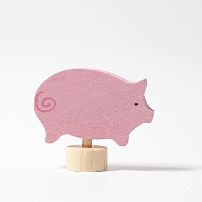 Porcusor roz - figurina decorativa
