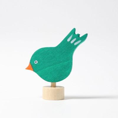 Pasare verde - figurina decorativa