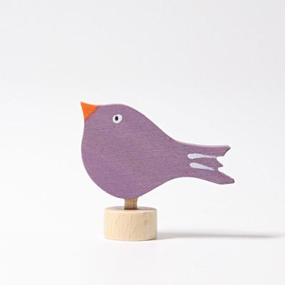 Pasare mov - figurina decorativa