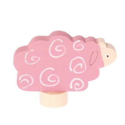 Oita roz - figurina decorativa