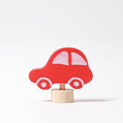 Masina rosie - figurina decorativa