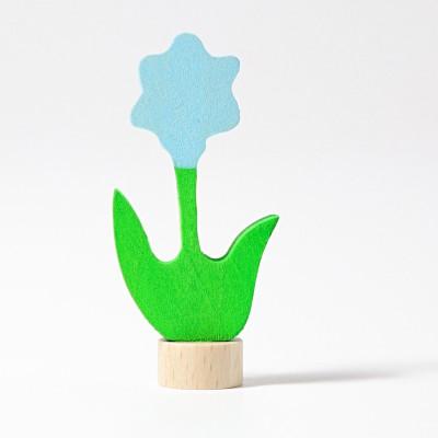 Floare albastra - figurina decorativa