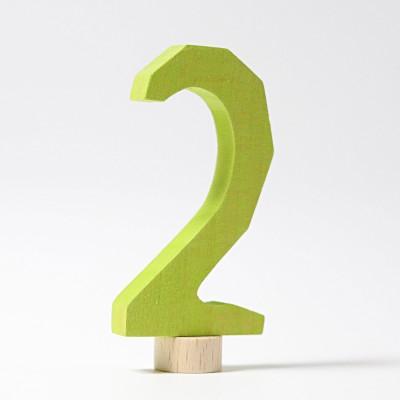 Cifra doi - figurina decorativa