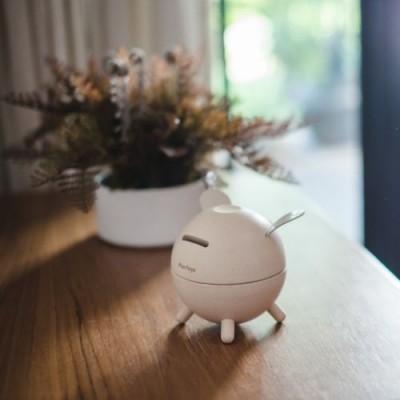 Pusculita Piggy Bank - model alb