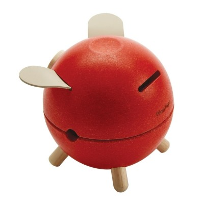 Pusculita Piggy Bank - model rosu