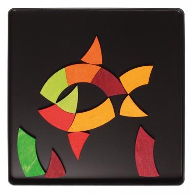 CERCUL CULORILOR GOETHE - Puzzle magnetic