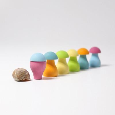 Set cu ciupercute pastel