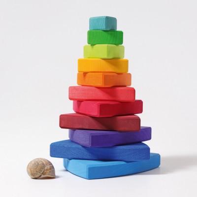 Turn cu triunghiuri curcubeu, 11 piese