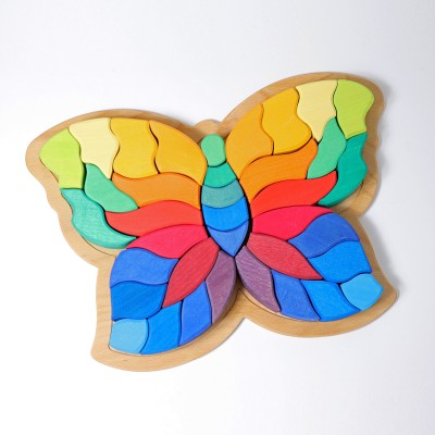 Fluturele curcubeu - puzzle creativ